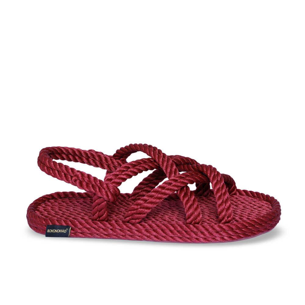 Bodrum Women Rope Sandal – Claret Red