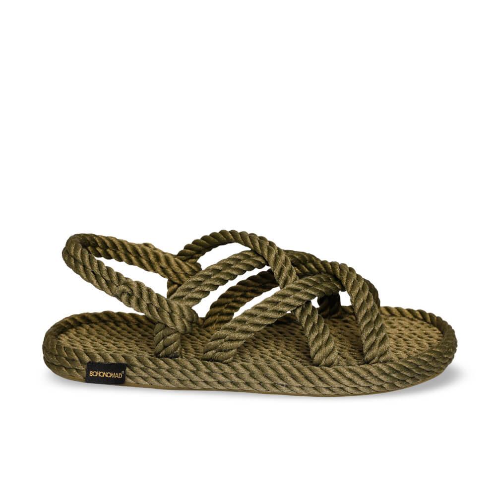 Bodrum sandales à cordon pour femmes – Kaki