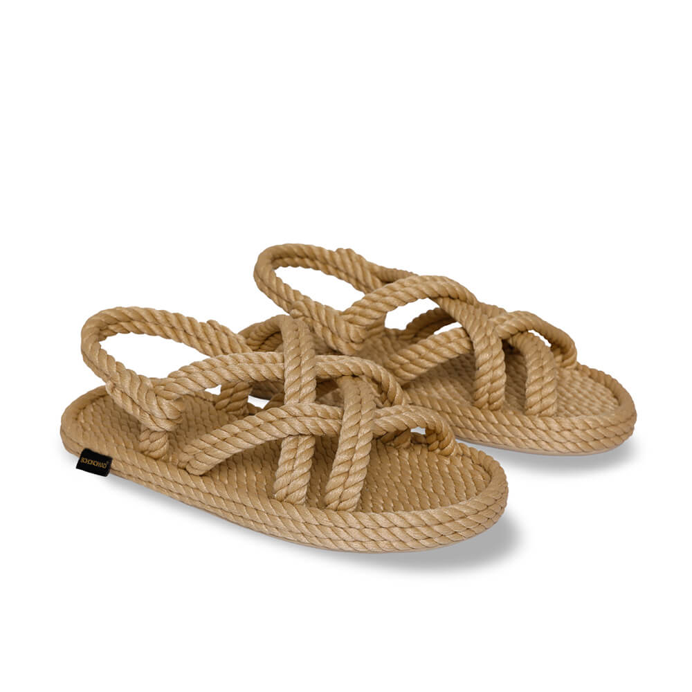 Bodrum sandales à corde pour enfants – Beige