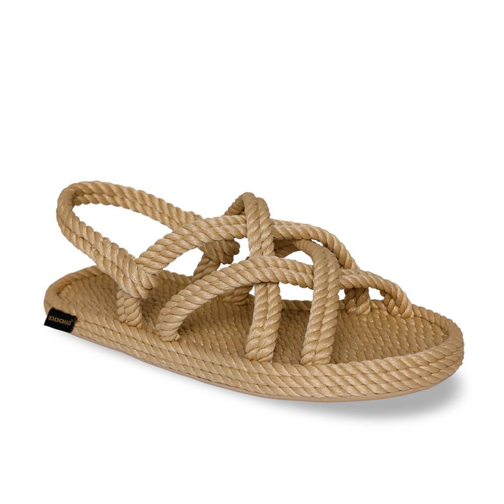 Bodrum sandale à corde pour hommes – Beige