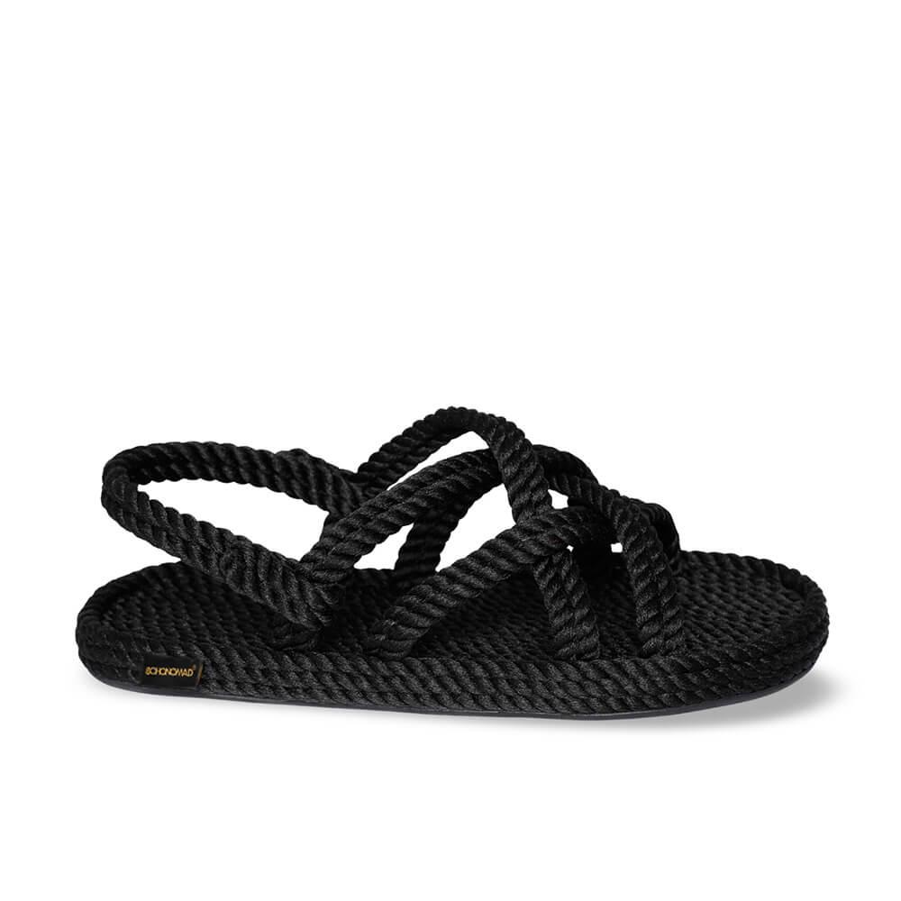 Bodrum sandale à corde pour hommes – Noir