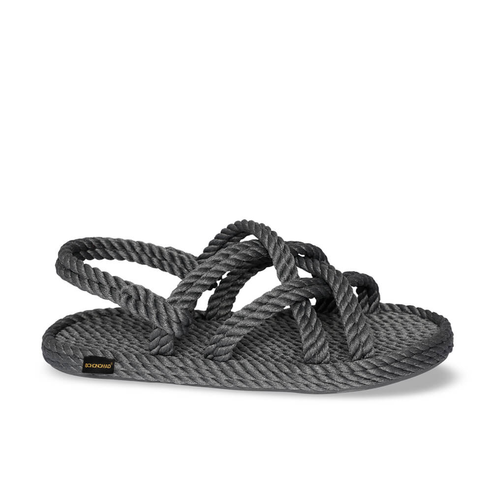 Bodrum Men Rope Sandal – Grey
