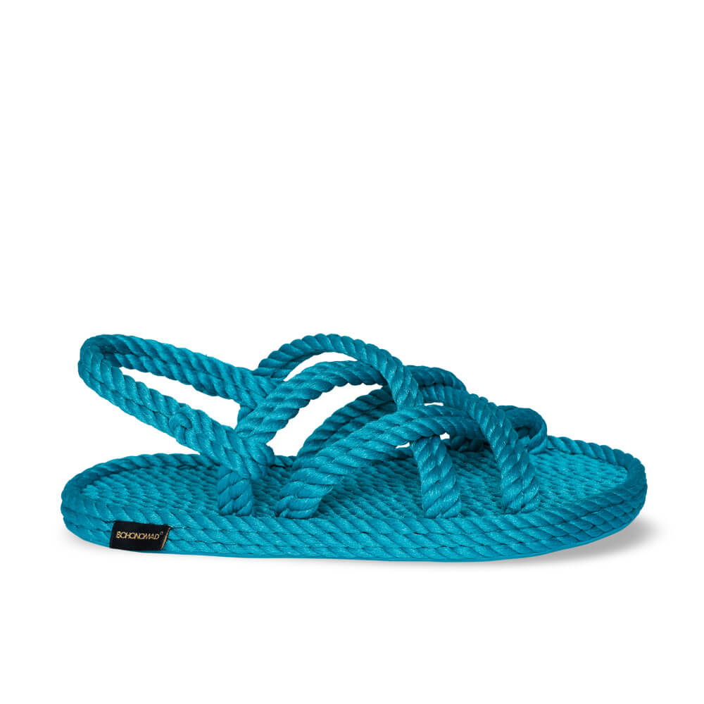 Bodrum Women Rope Sandal – Turquoise