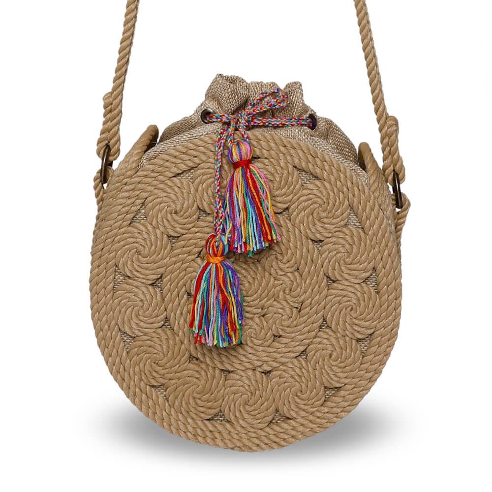 Bohobag sac en corde marguerite