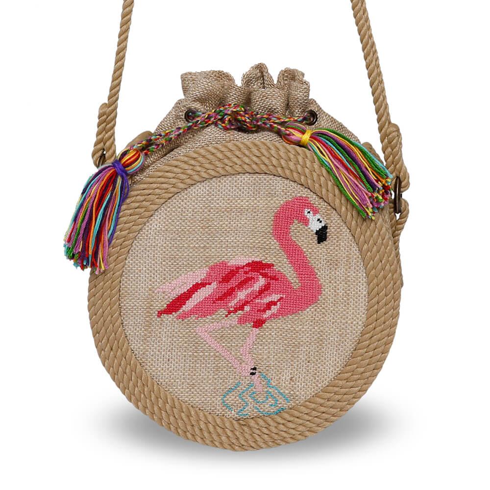 Bohobag Flamant sacs en corde