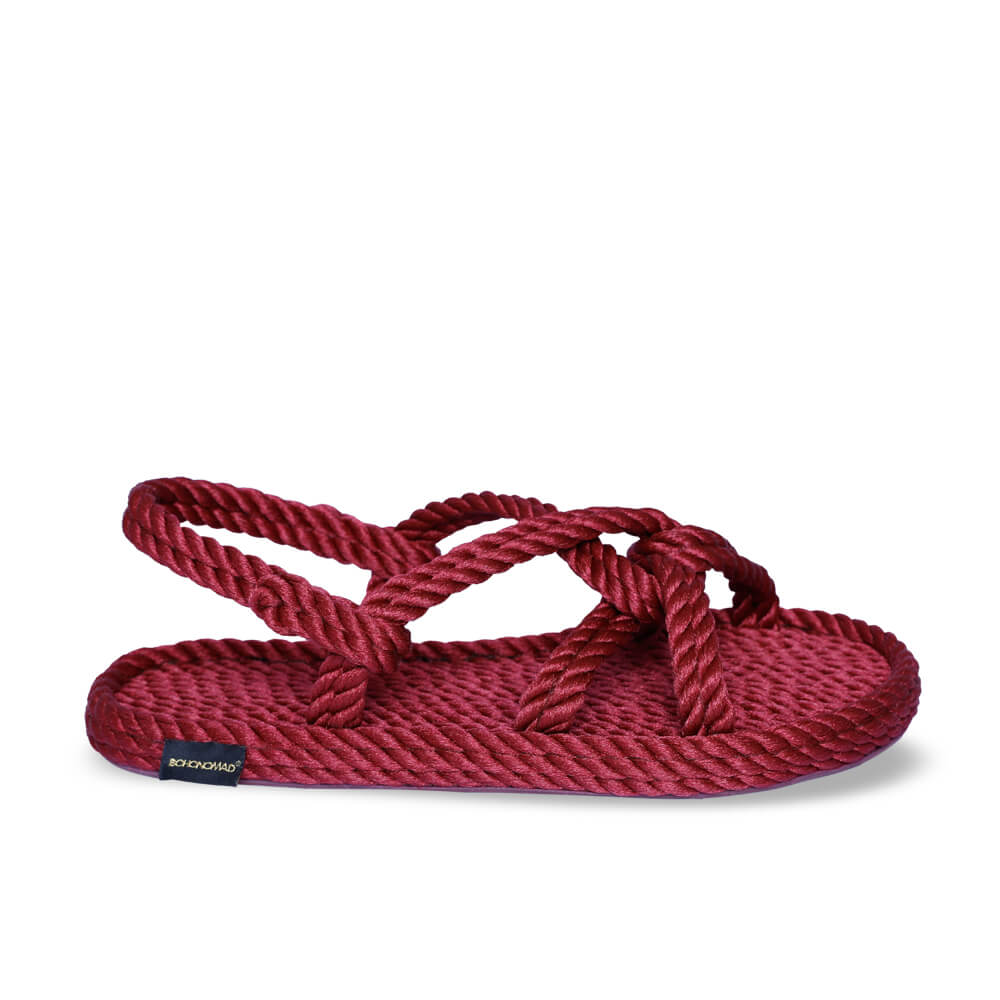 Bora Bora Women Rope Sandal – Claret Red
