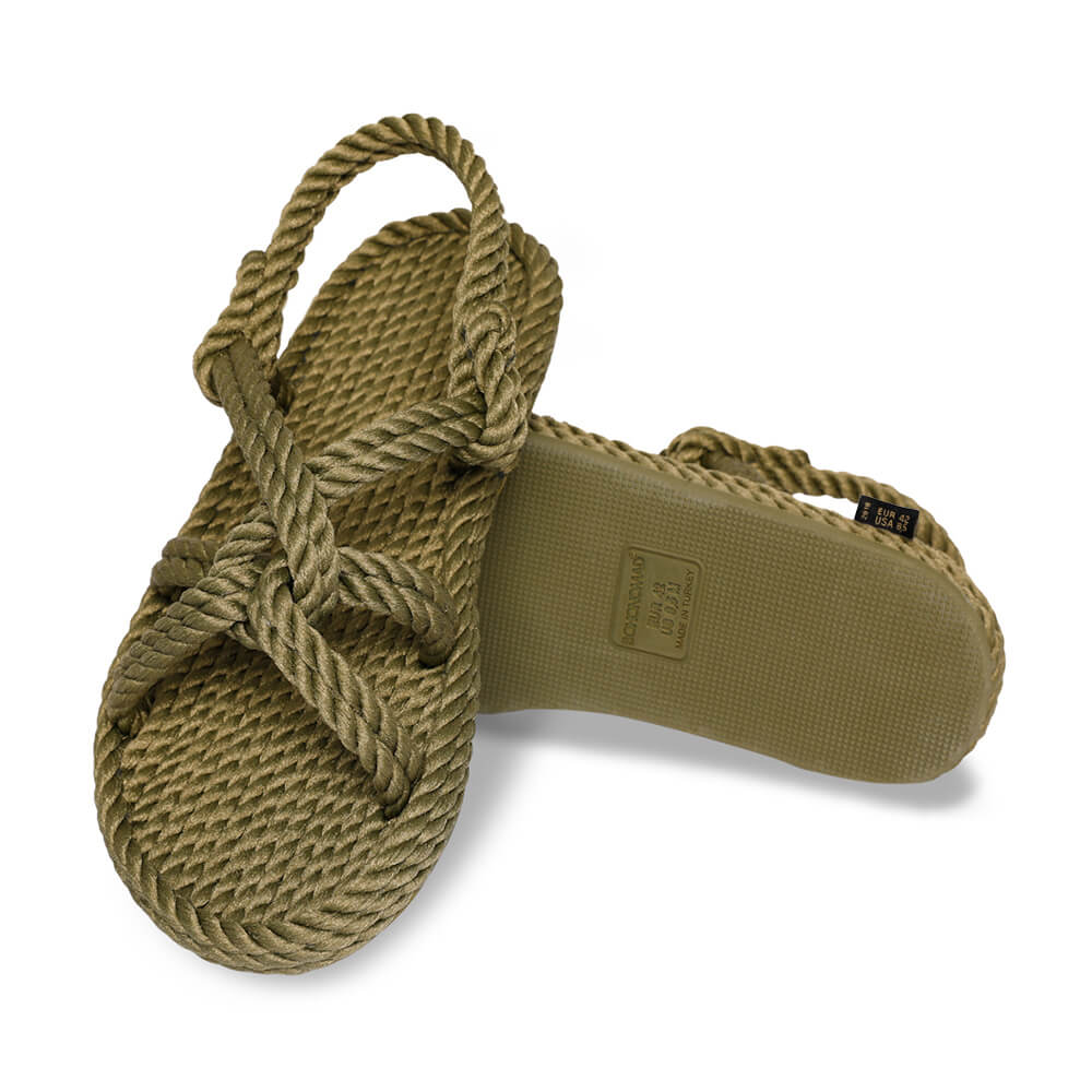 Bora Bora sandale à corde pour hommes – Kaki