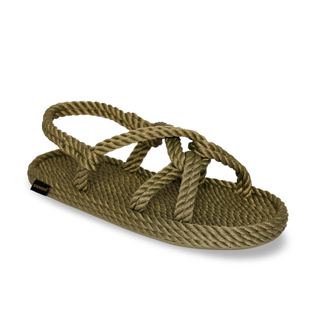 Bora Bora Women Rope Sandal – Khaki