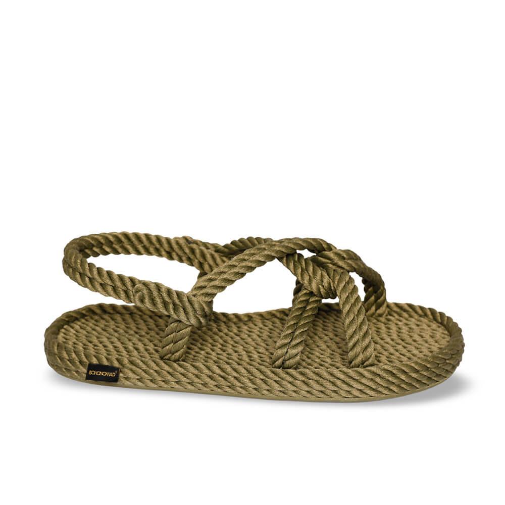 Bora Bora sandales à cordon pour femmes – Kaki