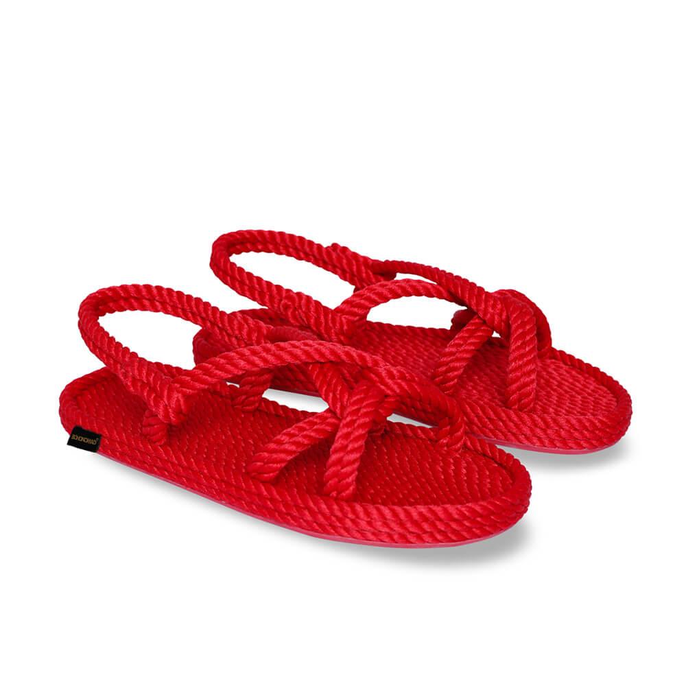Bora Bora sandales à cordon pour femmes – Rouge