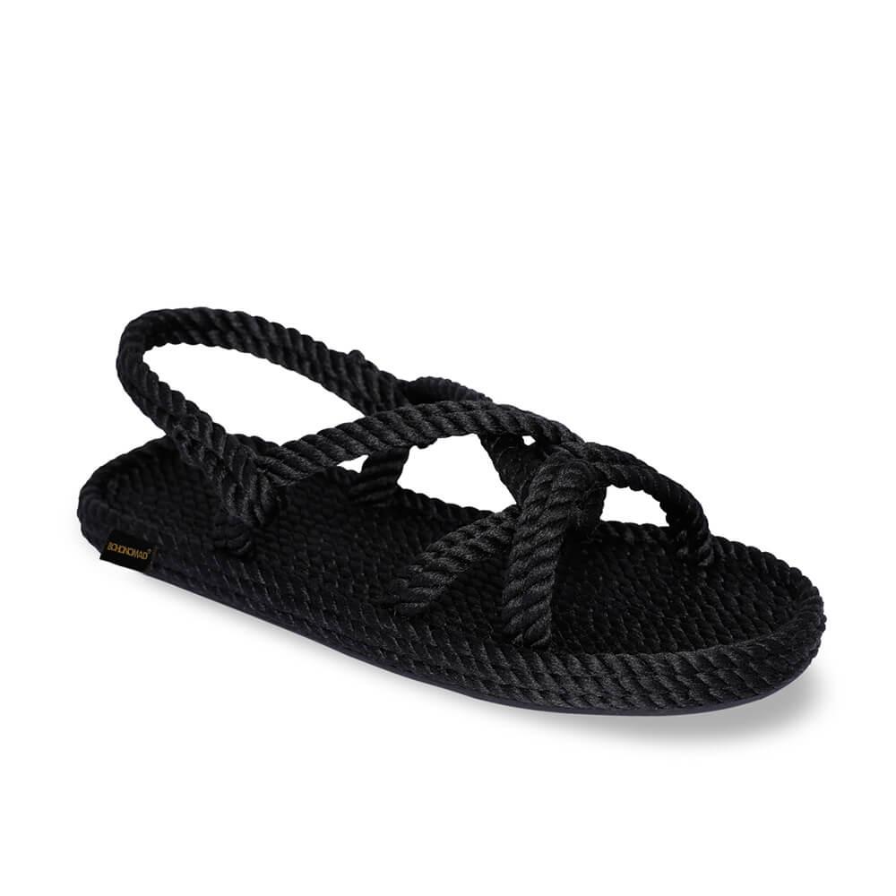 Bora Bora Men Rope Sandal – Black