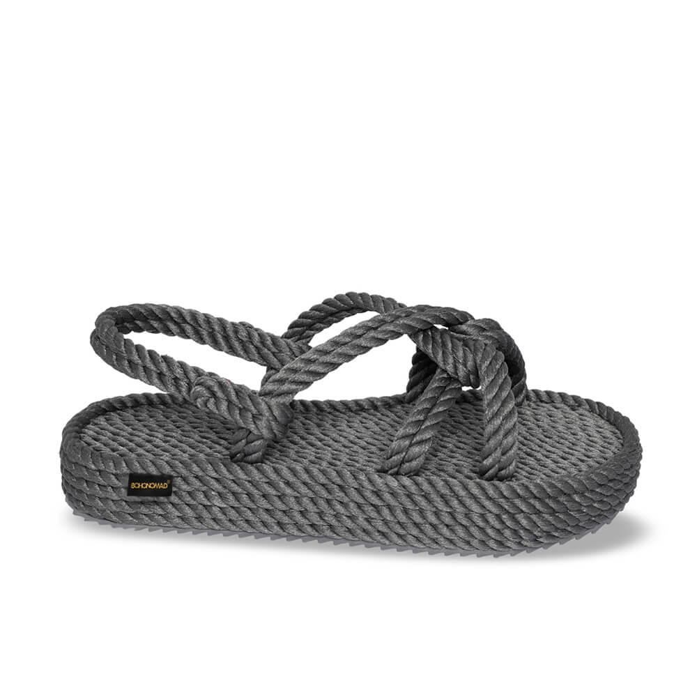 Bora Bora sandales à plateforme en corde – Gris