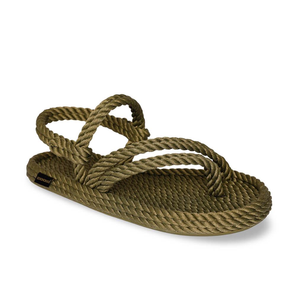 Cancun Women Rope Sandal – Khaki