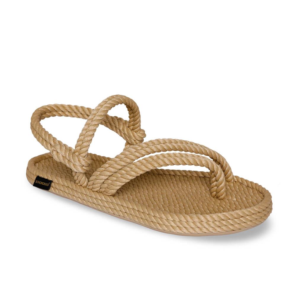 Cancun Women Rope Sandal – Beige