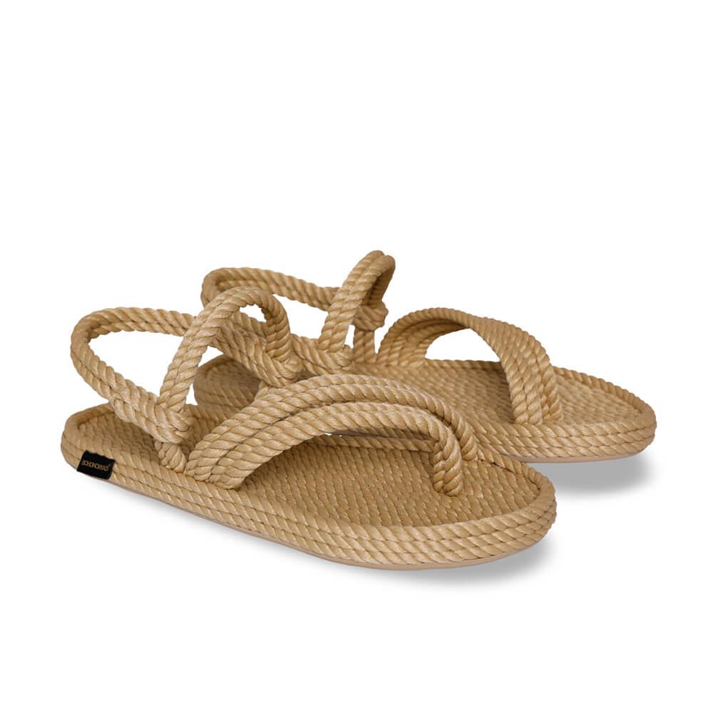 Cancun sandales à cordon pour femmes – Beige