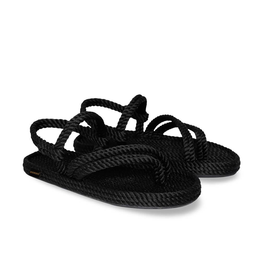 Cancun sandales à cordon pour femmes – Noir