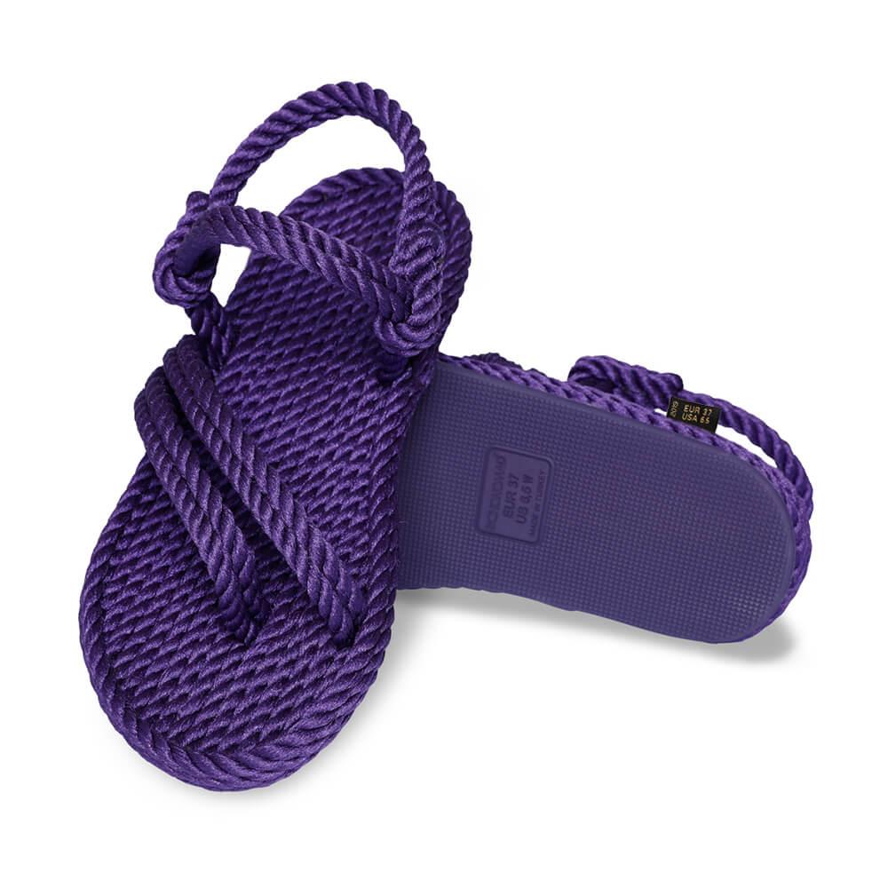 Cancun sandales à cordon pour femmes – Violet
