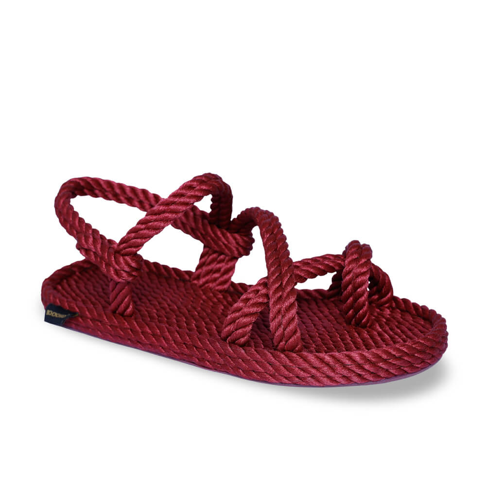 Capri Women Rope Sandal – Claret Red