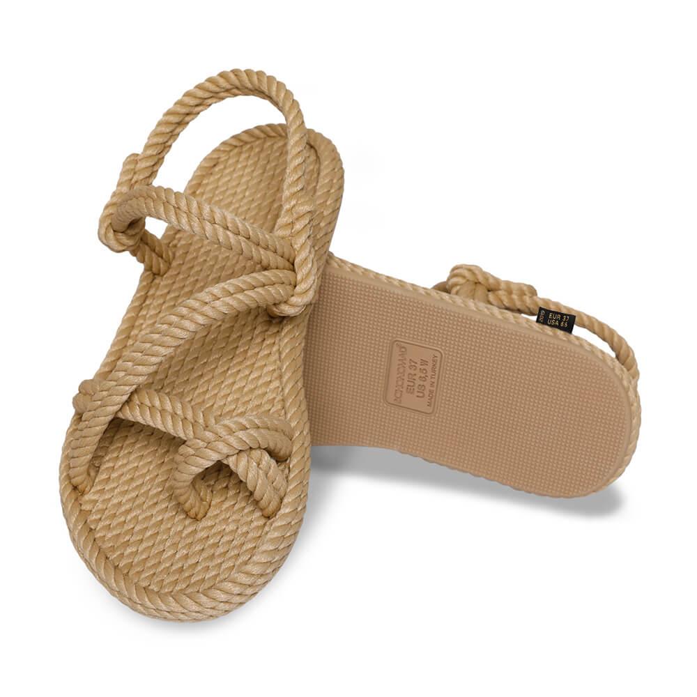 Capri Women Rope Sandal – Beige