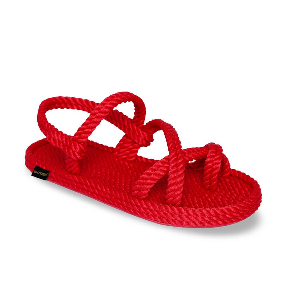 Capri Women Rope Sandal – Red
