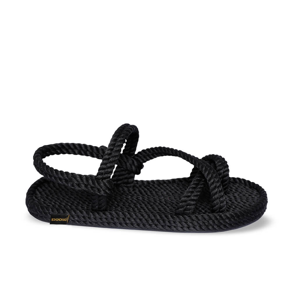 Capri Women Rope Sandal – Black