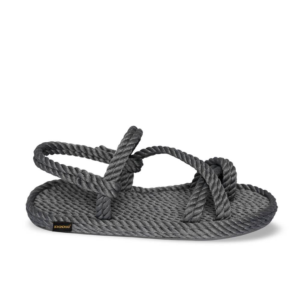 Capri Women Rope Sandal – Grey