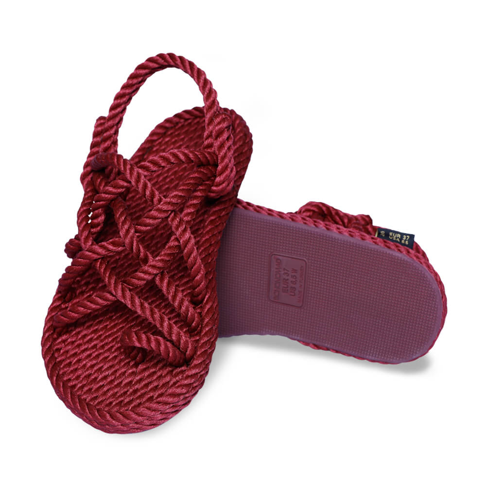 Cape Point Women Rope Sandal – Claret Red
