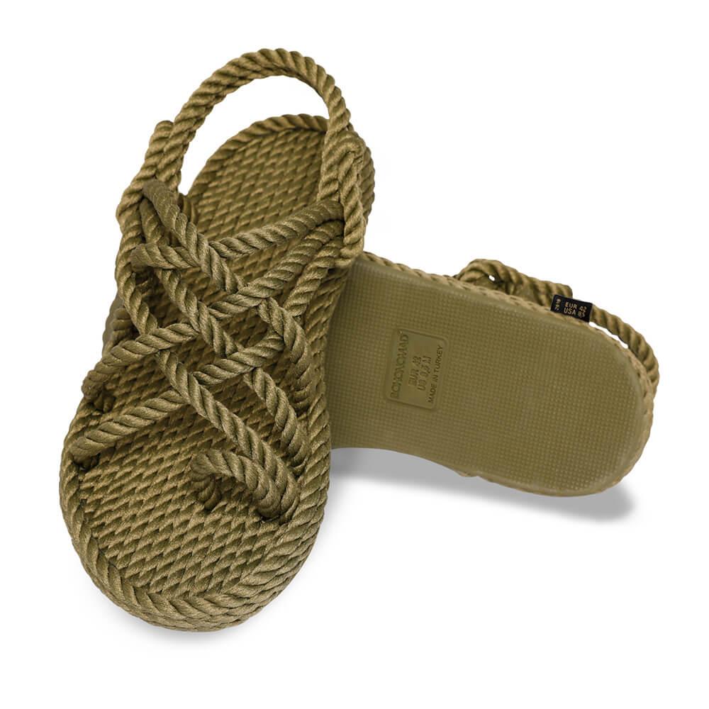 Cape Point Men Rope Sandal – Khaki