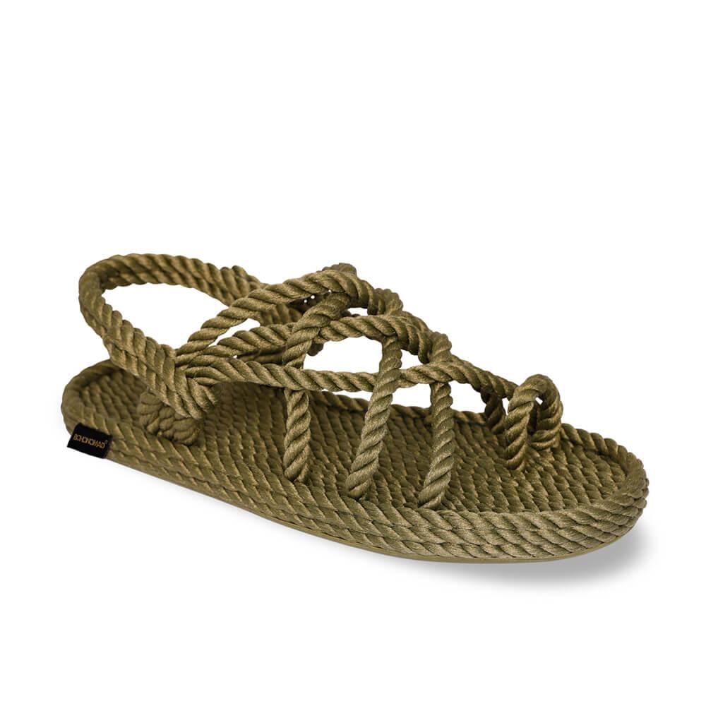 Cape Point Women Rope Sandal – Khaki
