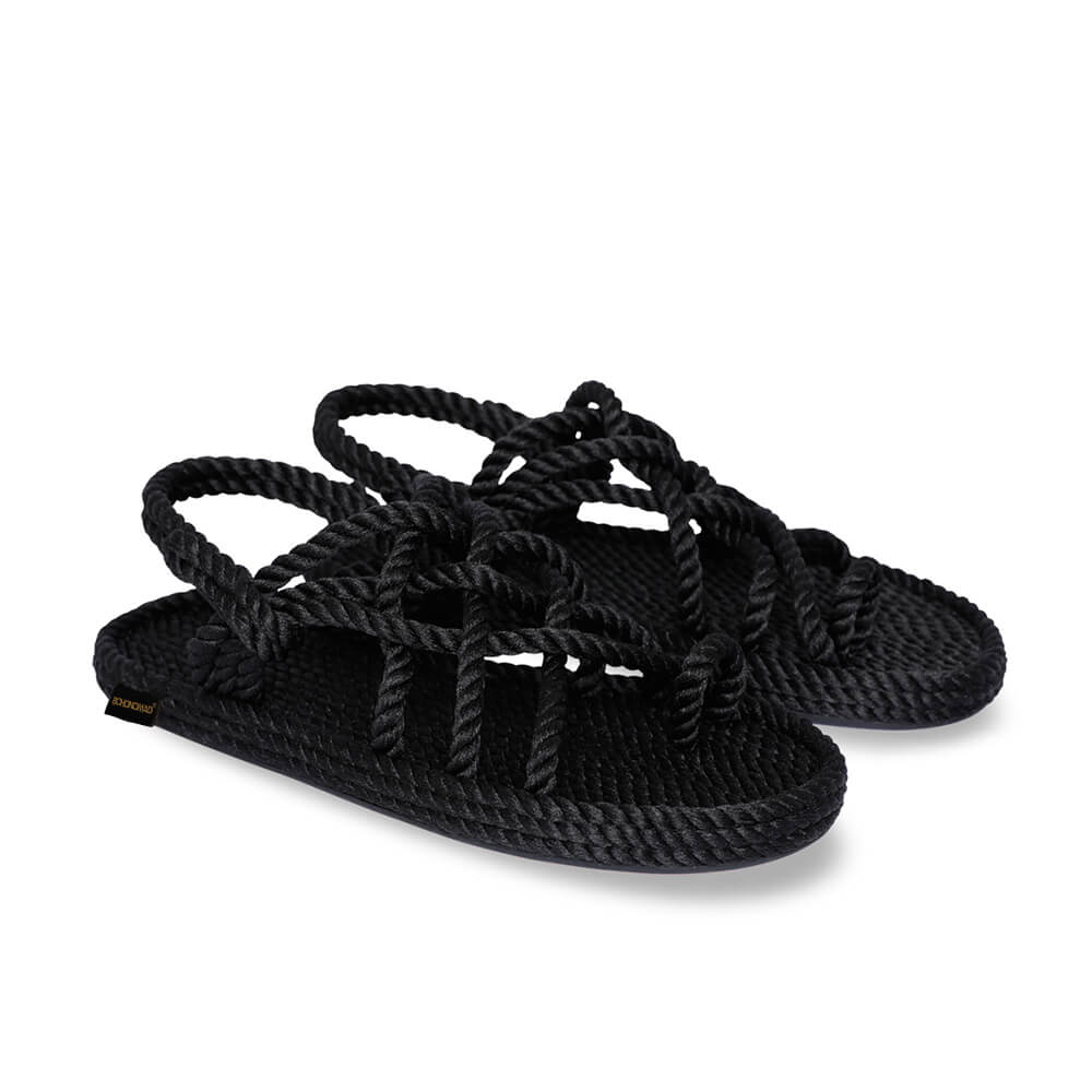 Cape Point Women Rope Sandal – Black