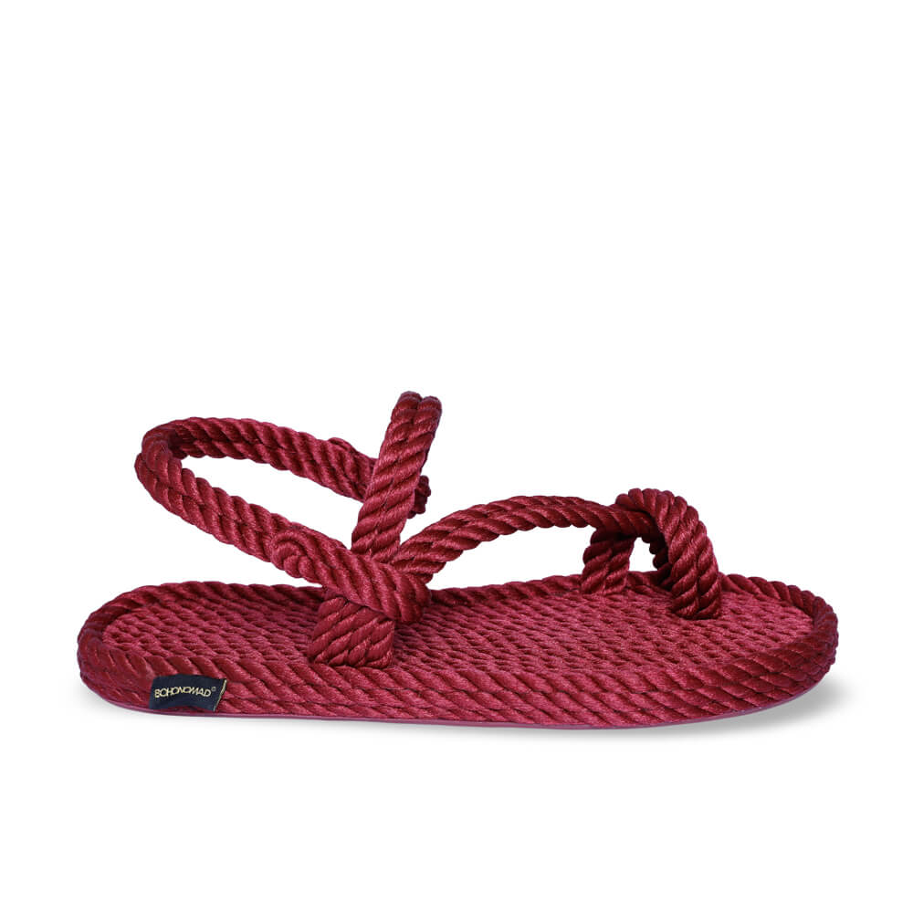 Hawaii Women Rope Sandal – Claret Red