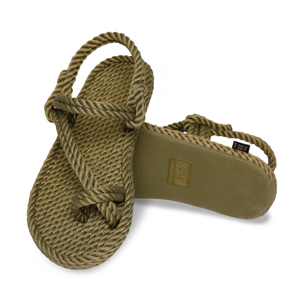 Hawaii sandale à corde pour hommes – Kaki