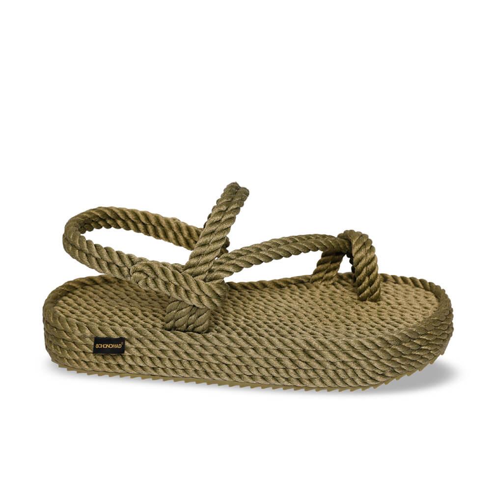 Hawaii Platform Rope Sandal – Khaki