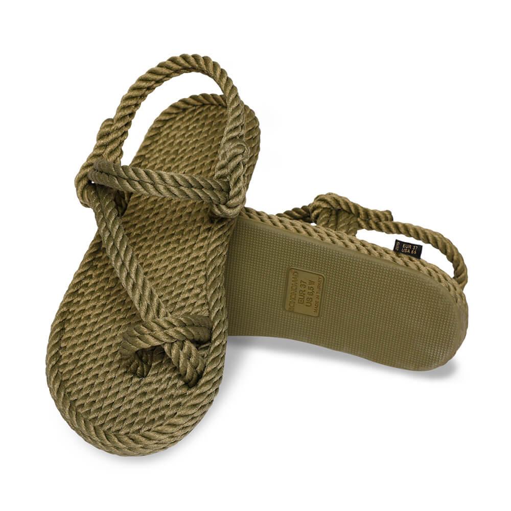 Hawaii Women Rope Sandal – Khaki