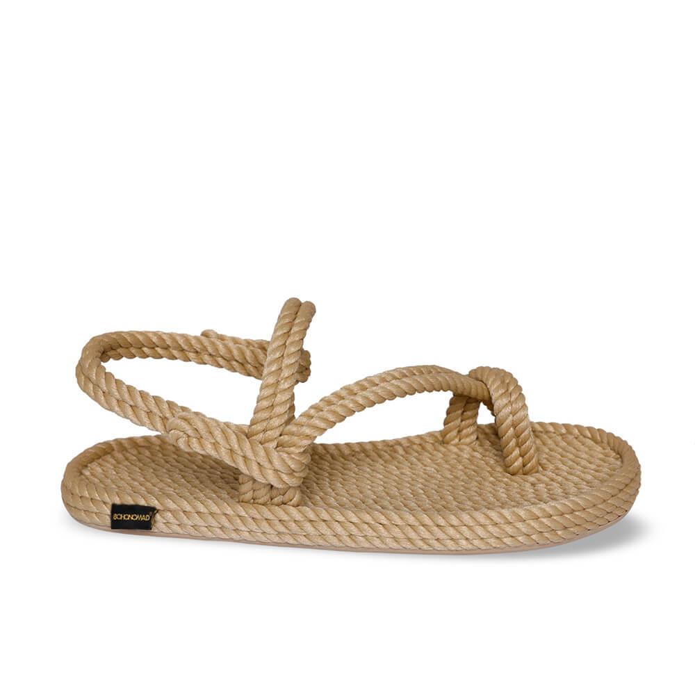 Hawaii sandale à corde pour hommes – Beige