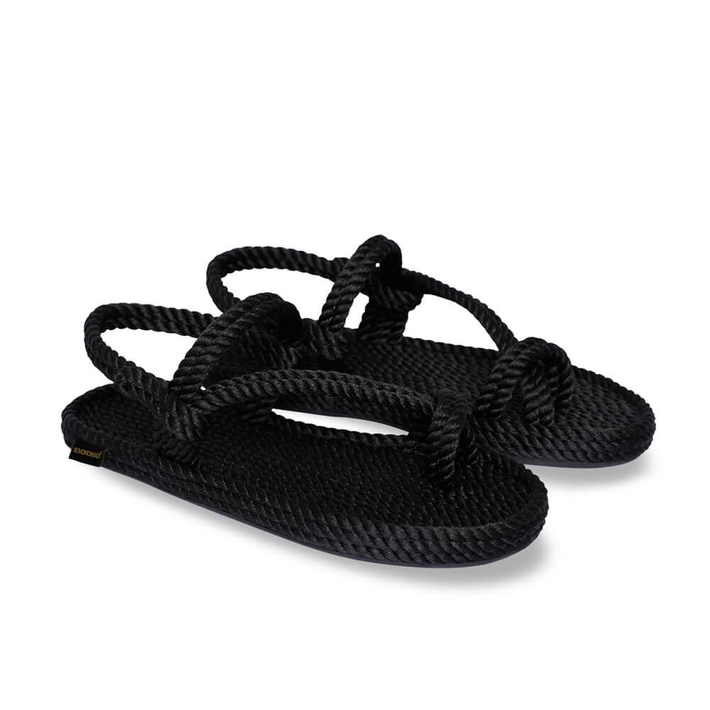 Hawaii sandale à corde pour hommes – Noir