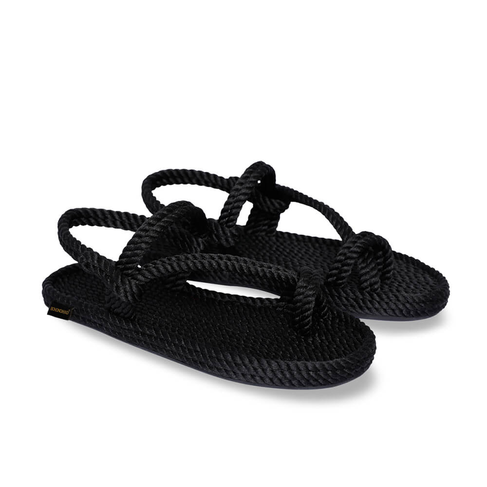 Hawaii Women Rope Sandal – Black