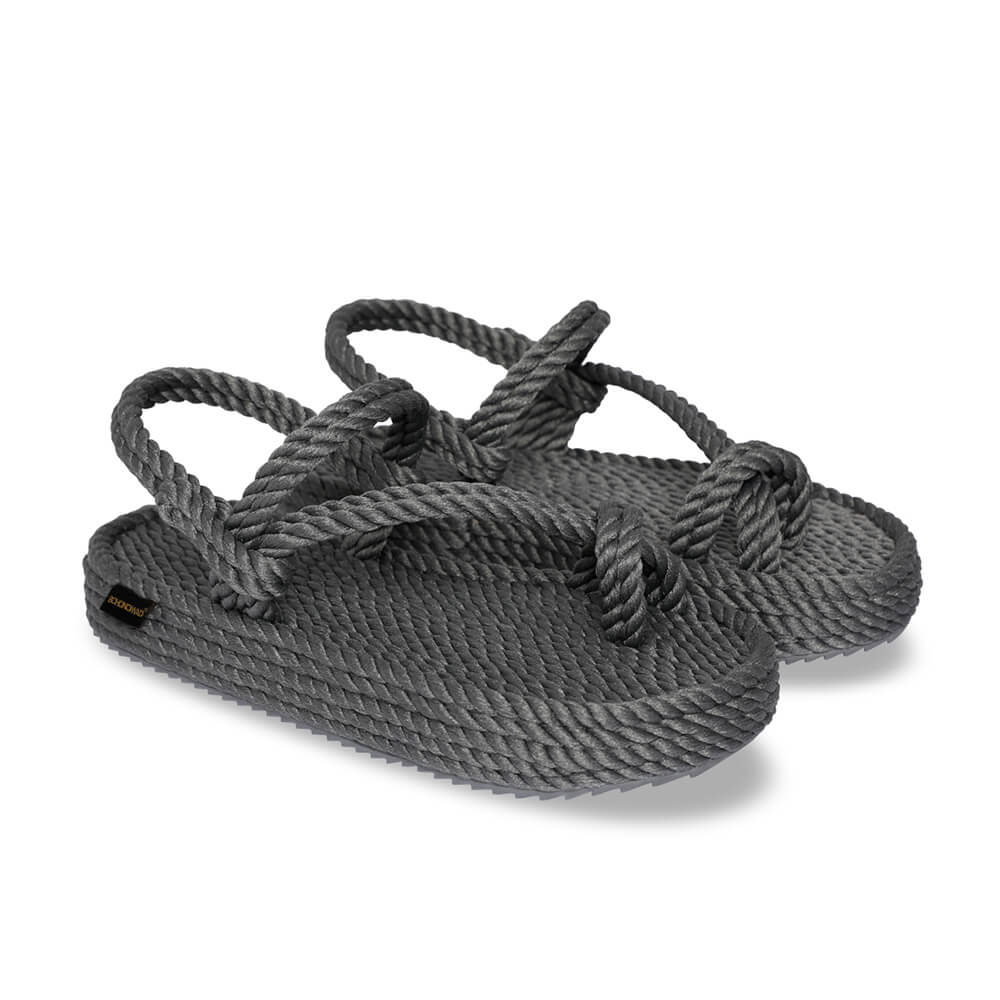 Hawaii sandales à plateforme en corde – Gris