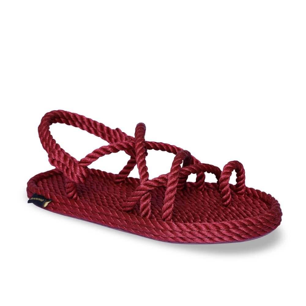 Ibiza Women Rope Sandal – Claret Red