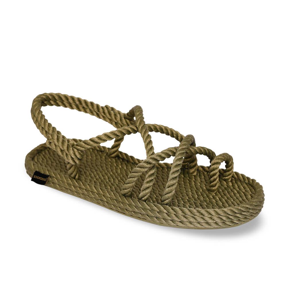 Ibiza Women Rope Sandal – Khaki