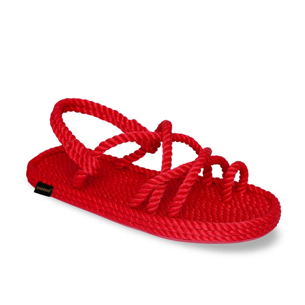 Ibiza Women Rope Sandal – Red