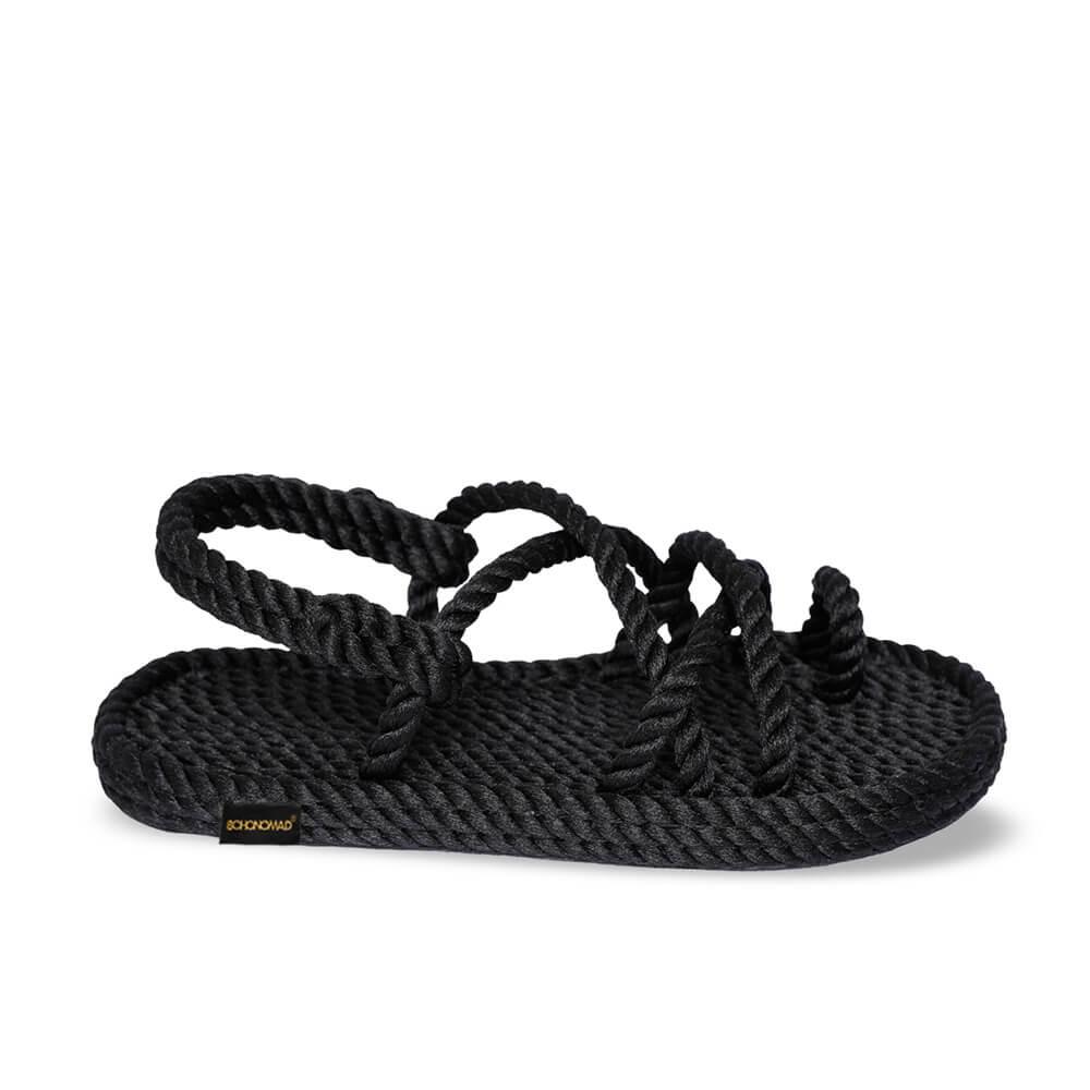 Ibiza Kids Rope Sandal – Black