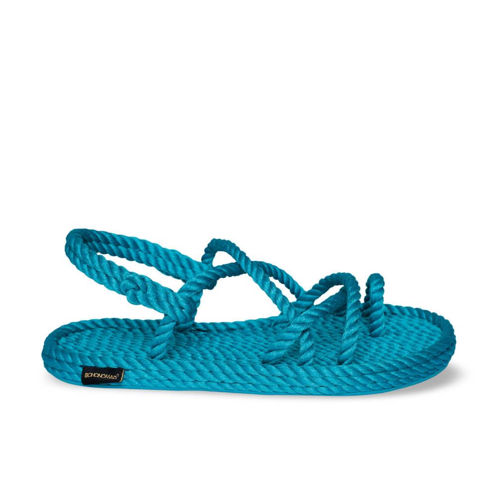 Ibiza sandales à cordon pour femmes – Turquoise