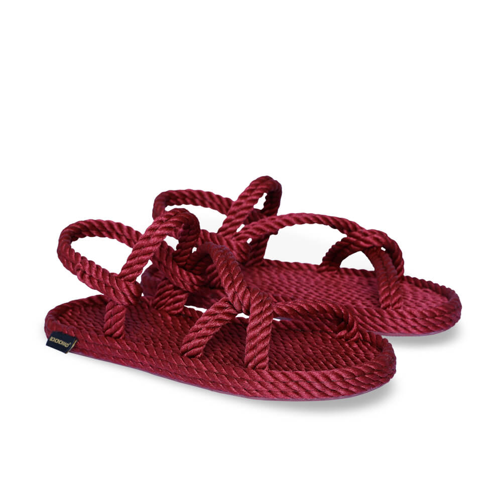Mykonos Women Rope Sandal – Claret Red