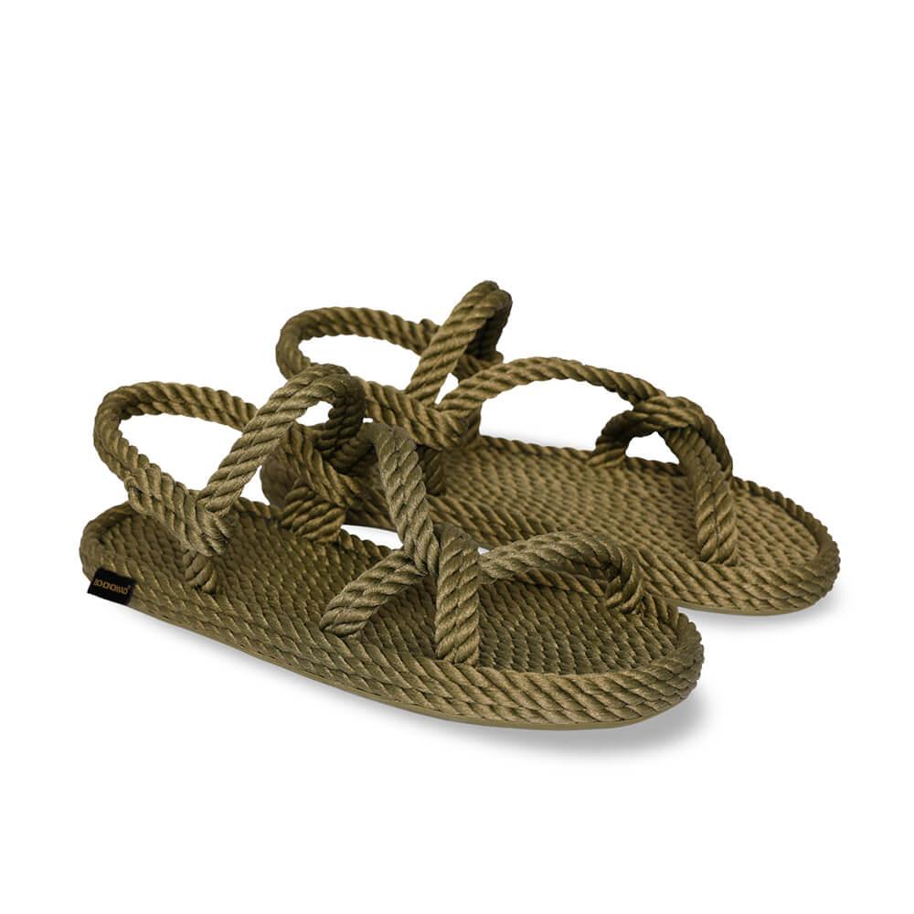 Mykonos Women Rope Sandal – Khaki