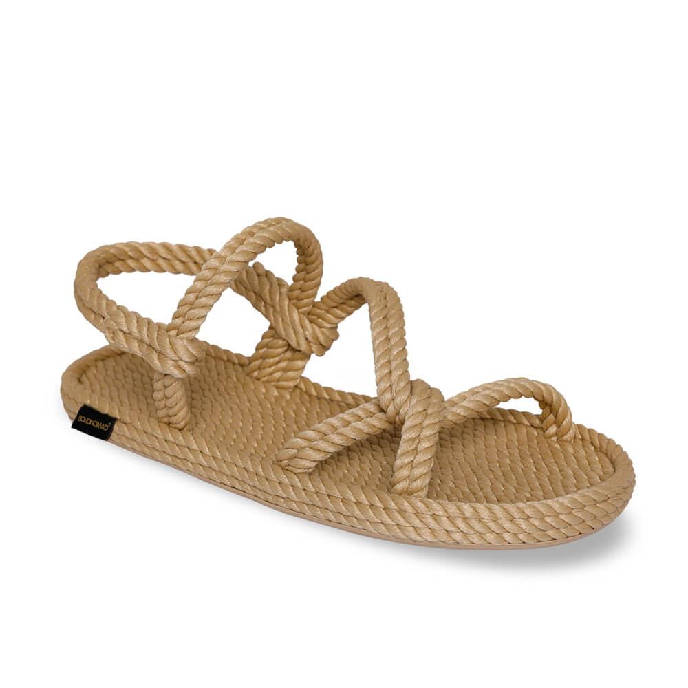 Mykonos Women Rope Sandal – Beige