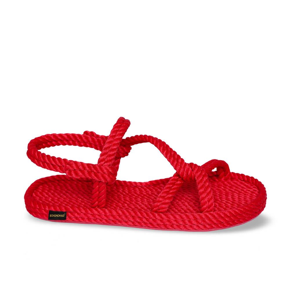 Mykonos Women Rope Sandal – Red