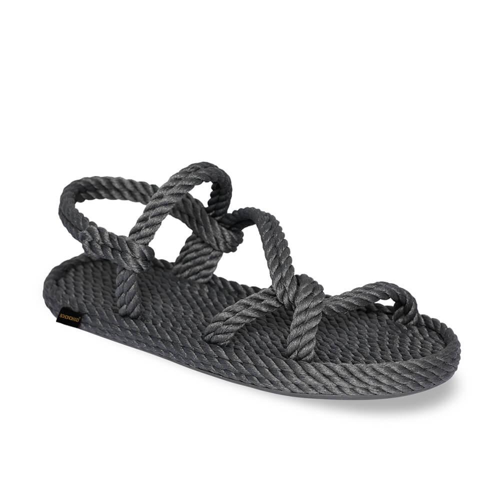 Mykonos sandales à cordon pour femmes – Gris