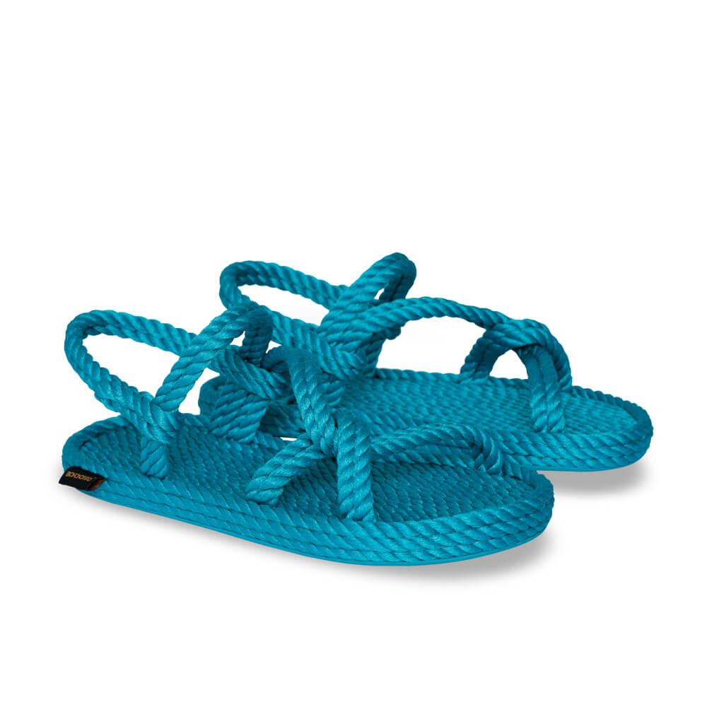 Mykonos sandales à cordon pour femmes – Turquoise