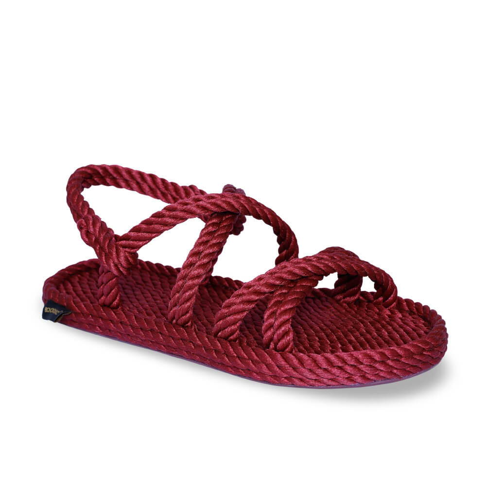 Tahiti Women Rope Sandal – Claret Red